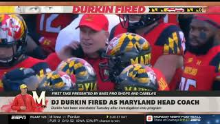 Stephen A  Smith reacts to DJ Durkin fired as Maryland head coach   First Take