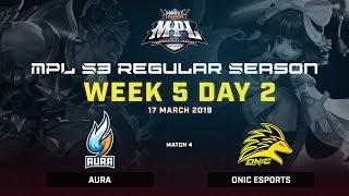 AURA vs Onic Esports : MPL Season 3 Week 5 day 2 Match 4 Regular Season
