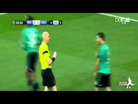 Real Madrid vs Schalke 3 1 Sead Kolasinac Horror FOUL on Jesé Rodríguez 18 03 2014 HD   YouTube