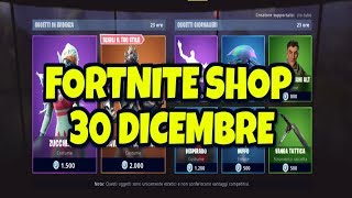 FORTNITE SHOP 30 DECEMBER NEW SKIN ZUCCHERINA