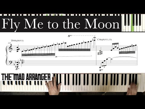 Jacob Koller  Fly Me to the Moon  Advanced Jazz Piano  with Sheet Music
