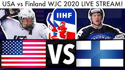USA vs Finland WJC GAME LIVE STREAM! (2020 IIHF Reaction & Quarterfinals Caufield Talk)