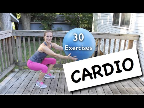 30 Stability Ball Exercises // Cardio Workout - YouTube