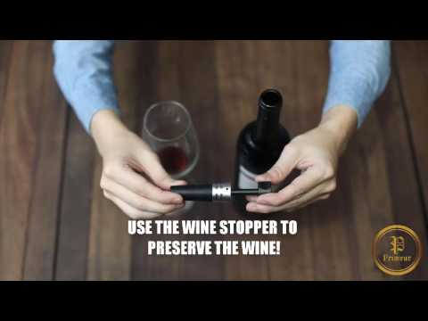 How To Use The Primeur Rabbit Wine Opener Gift Set Youtube