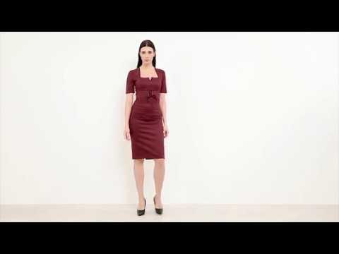 61f41beb01a4 Платье-карандаш из эко-замши Виолетта от Jadone Fashion - YouTube