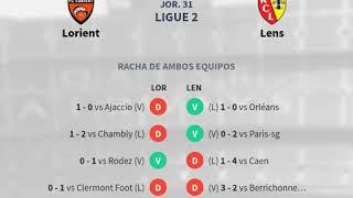 Previa Lorient vs Lens Jornada 31 Ligue 2 2020 Pronósticos y horarios