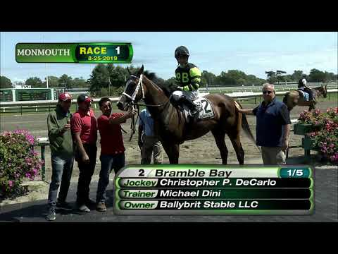 video thumbnail for MONMOUTH PARK 8-25-19 RACE 1
