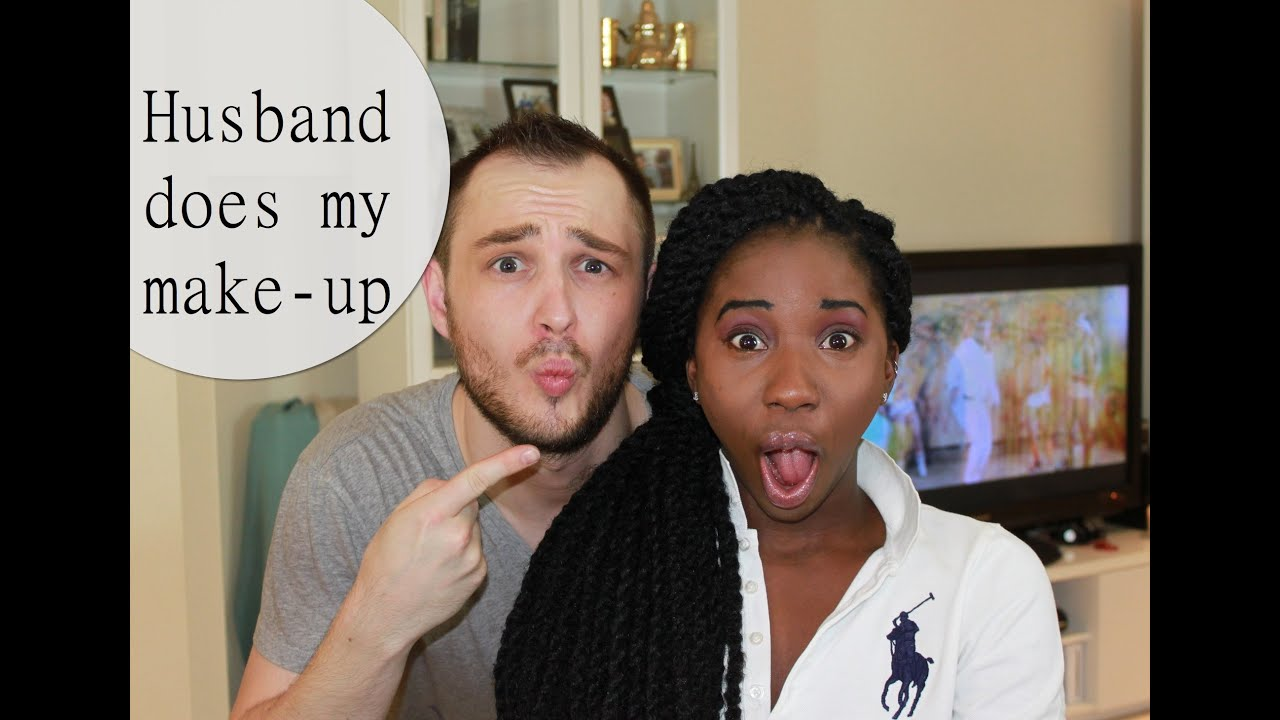 HUSBAND DOES MY MAKE-UP | AdannaDavid - YouTube