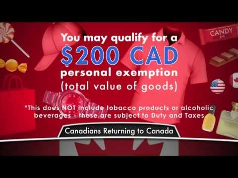 Duty Free Canada: Canadian Customs Allowances