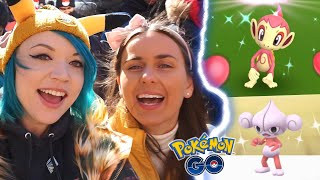 LAST SECOND SHINY! Chimchar Community Day NYC Pokémon GO #TeamGalaxy