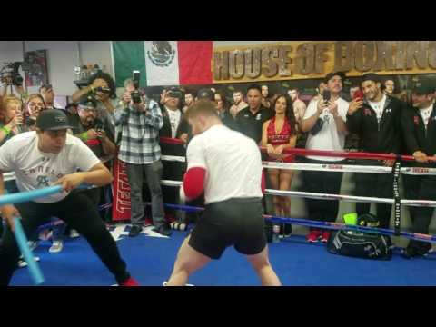 Canelo Working on Reflex & Defense - Media Day