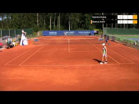 Tenniksen Aamulehti Tampere Openin naisten 10.000$ ITF-turnauksen semifinaalit (28.7.2012)