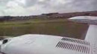 Takeoff in Cessna 340