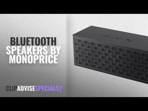 Top 5 Monoprice Bluetooth Speakers [2018]: Monoprice 114447 Basin Bluetooth Portable Speaker (Blue)