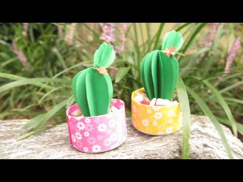 Diy Cactus Plant Tutorial / Learn to make Fake Cactus / Easy Crafts & Simple Arts