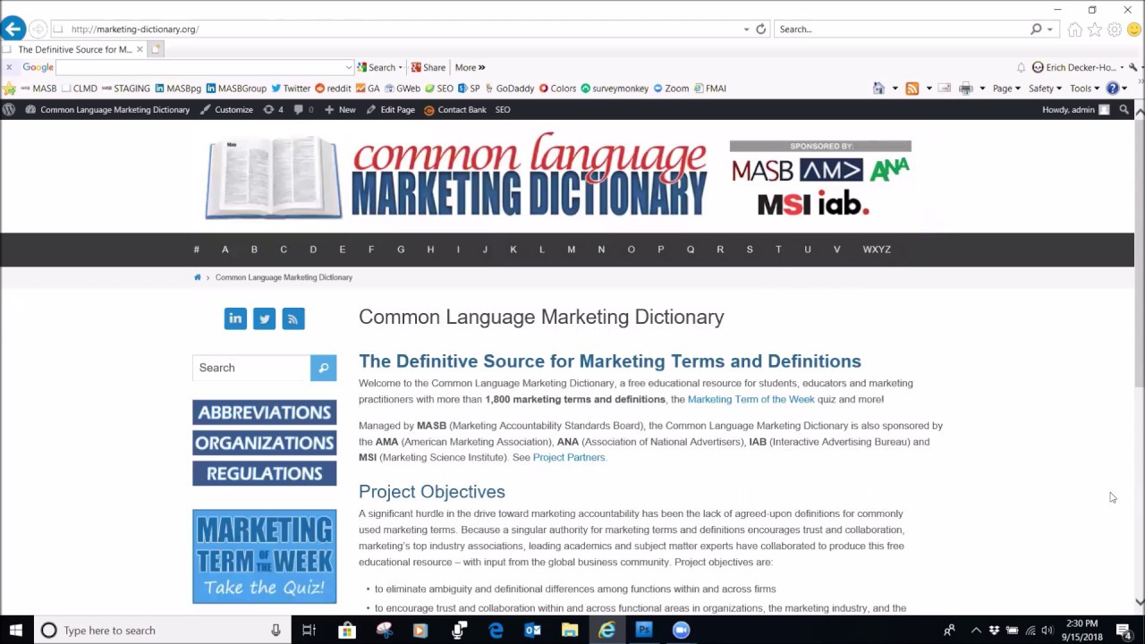 The Definitive Source for Marketing Terms and Definitions