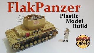 Make a Plastic Model German Flakpanzer Anti Aircraft Vehicle