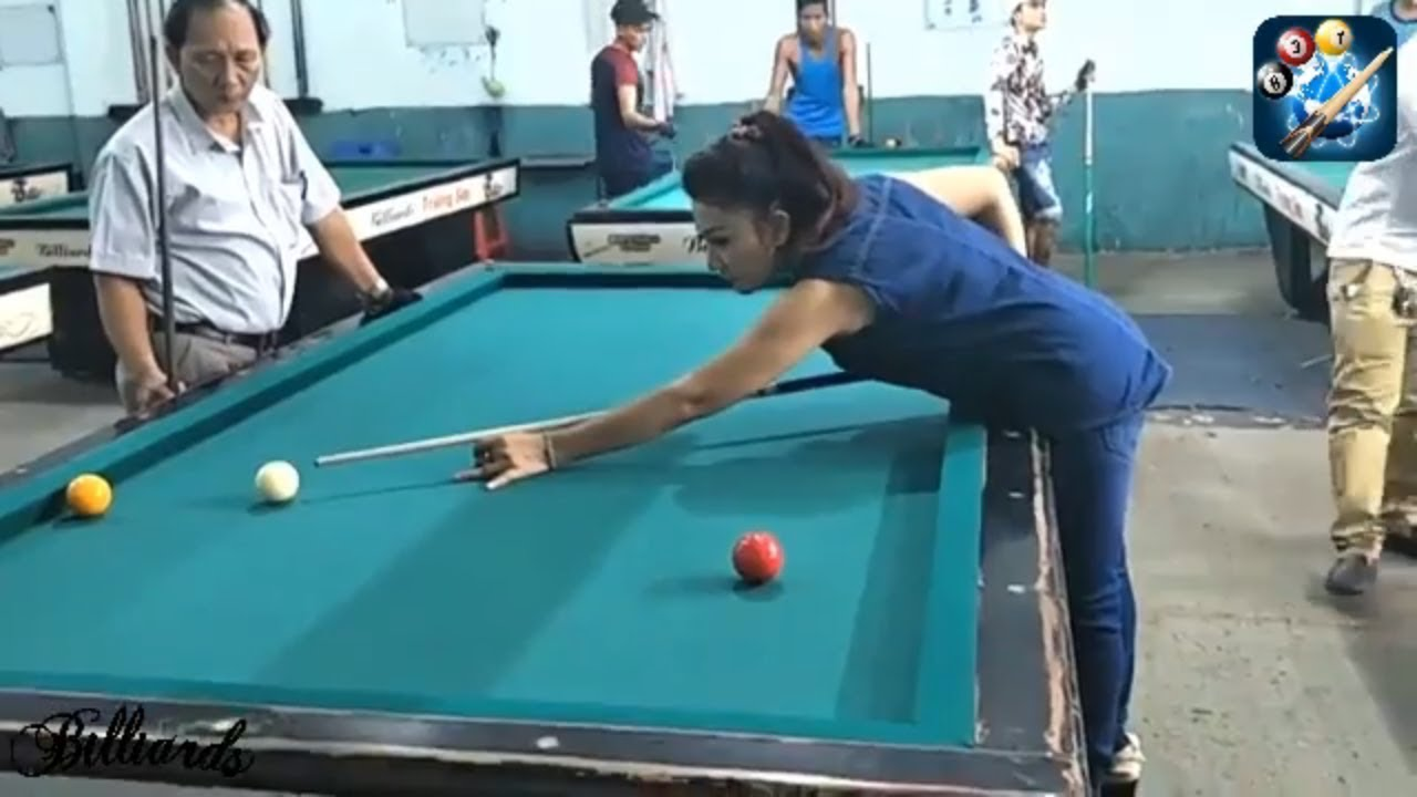 Billiards Kingdom Hot Girl Vietnamese play Billiard Libre So Sexy ...
