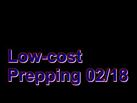 Low-cost Prepping Serie 02/18