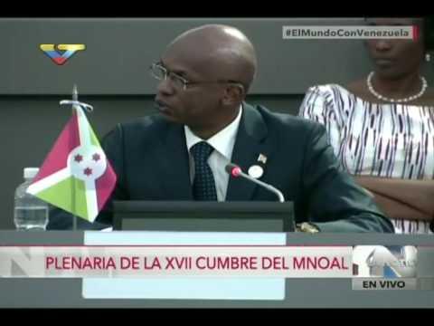 Cumbre MNOAL en Margarita (Venezuela), intervenciones el domingo 18