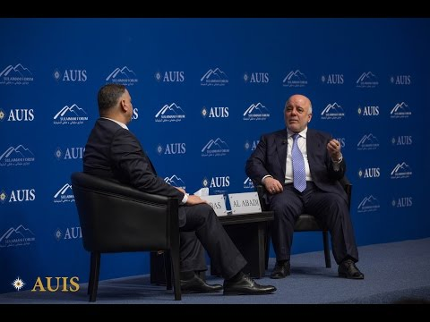 Sulaimani Forum: A Conversation with Dr. Haider al-Abadi, Prime Minister of Iraq