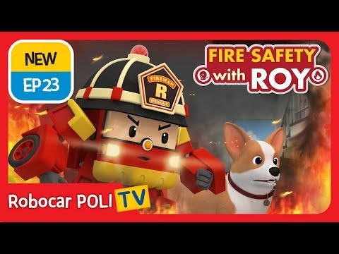 🔥fire-safety-with-roy-|-ep23-|-buddy-to-the-rescue.-|-robocar-poli-|-kids-animation