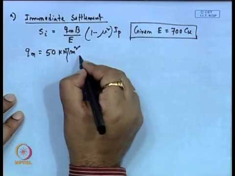 Mod-01 Lec-11 Shallow Foundation - Settlement Calculation - I