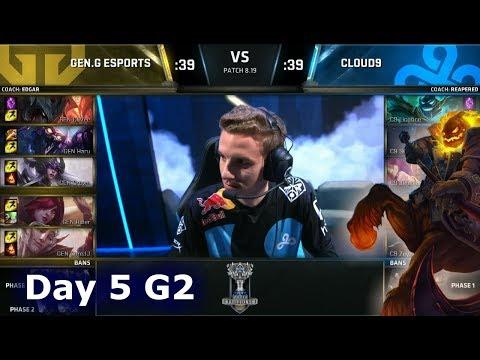 GEN vs C9 | Day 5 Group Stage S8 LoL Worlds 2018 | Gen.G vs Cloud 9