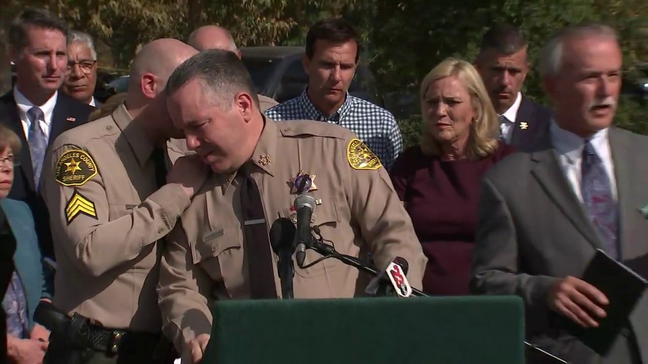 L.A. County sheriff learns of second Saugus High school fatality during news conference I ABC7