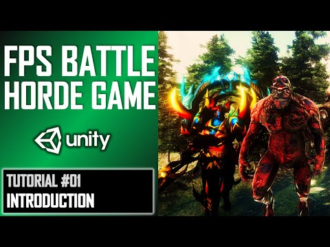 HOW TO MAKE FPS BATTLE HORDE GAME IN UNITY - TUTORIAL #01 - INTRODUCTION thumbnail