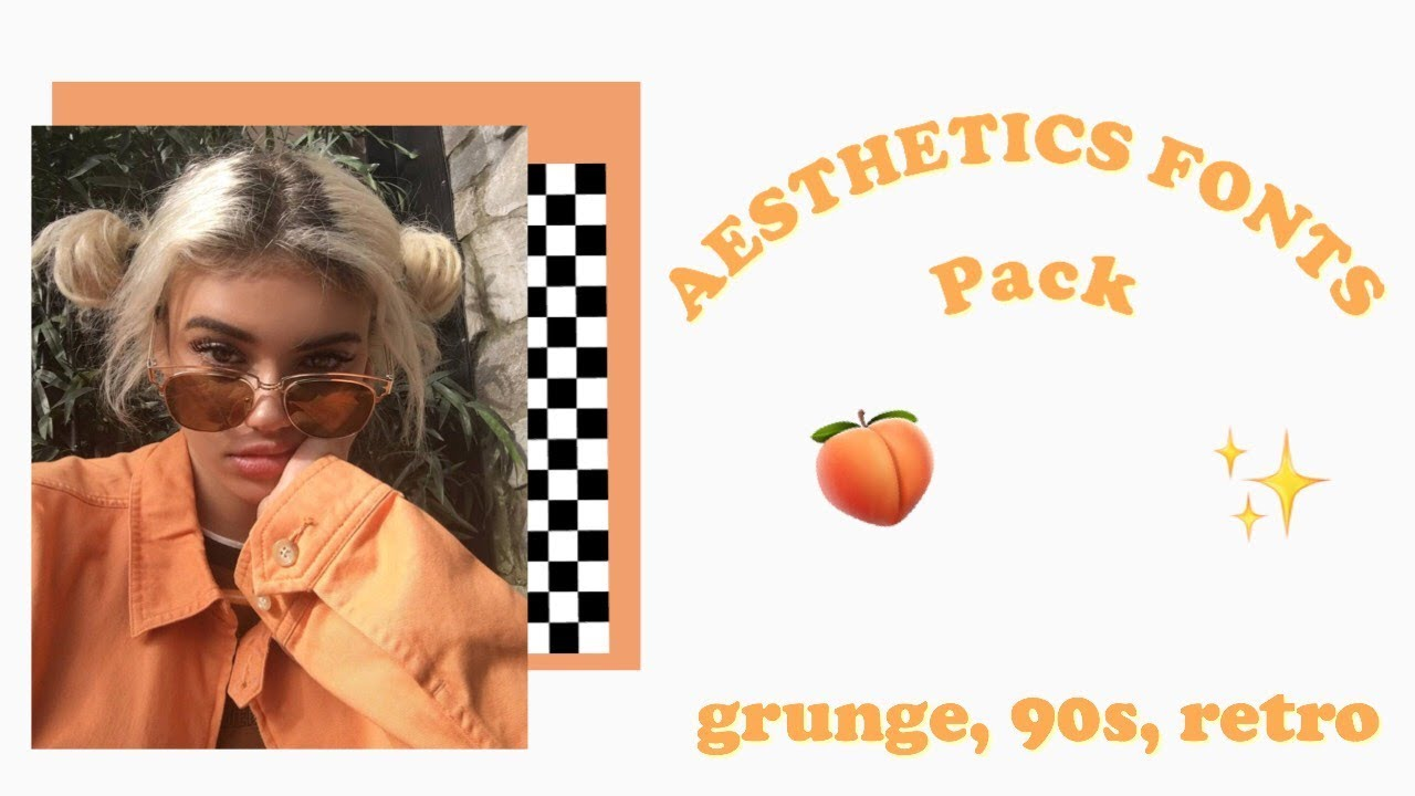 AESTHETIC FONTS PACK // Grunge, Retro, 90s