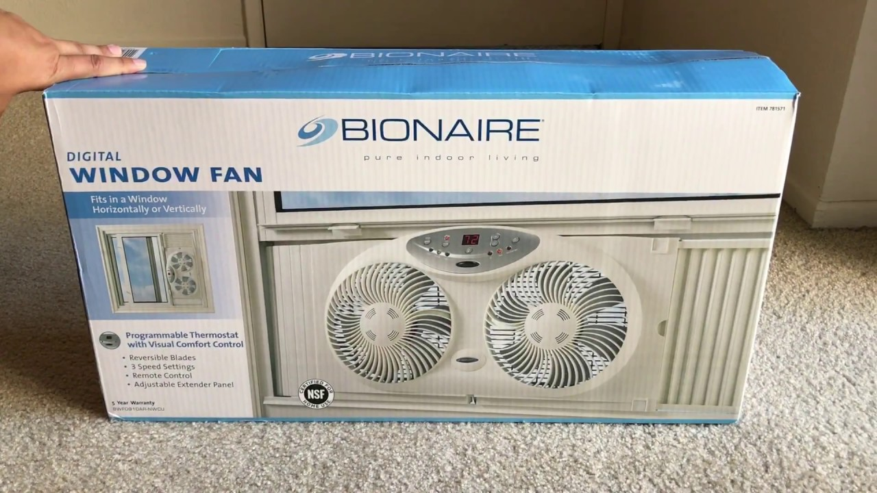 Bionaire Digital Window Fan Review Youtube