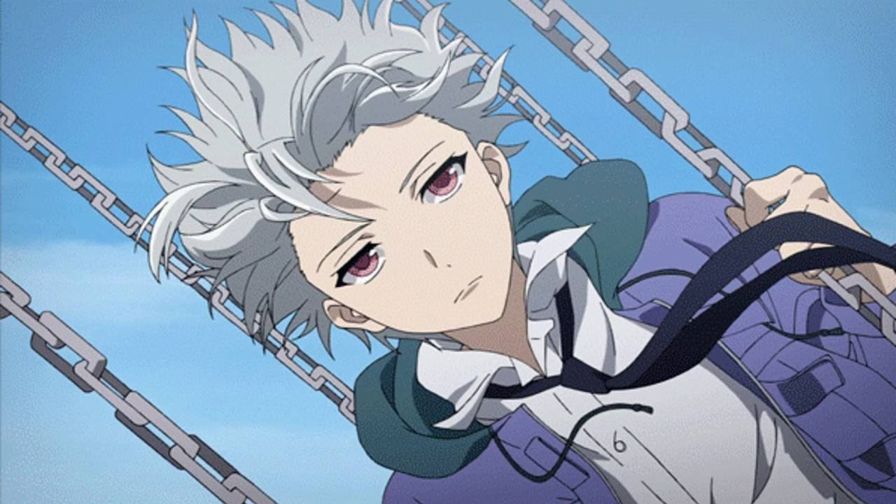 white hair anime boys
