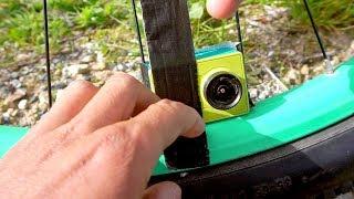 Taped a GoPro inside my wheel