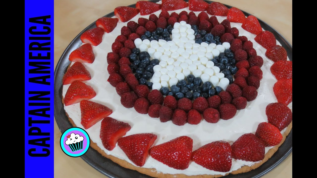 How to make Captain America Fruit Pizza Pinch of Luck YouTube