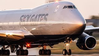 BOEING 747 LANDING in the last sunlight - Skygates Cargo