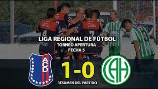 Automoto de Tornquist vs Atlético Huanguelén - Resumen (1-0) | Fecha 5 | Liga Regional de Fútbol