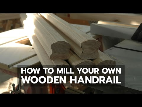 DEMO: How to Mill Your Own Wooden Handrail