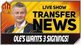 Solskjaer's Top 3 Transfer Targets! Man Utd News