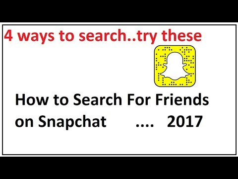 How do you search your friends on snapchat
