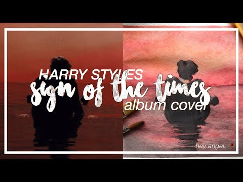 Watercolor Painting Time Lapse: Harry Styles - Sign Of The Times Album Cover | Hey Angel.