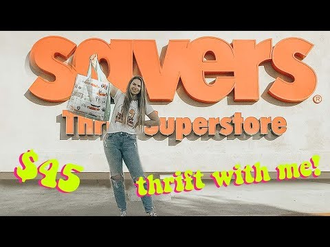 thrift with me + try-on savers haul! $45 haul