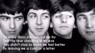 The Beatles - Mr Postman (lyrics)