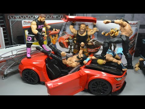WWE ACTION FIGURE CAR PLAYSET! + MORE!