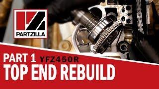 Yamaha YFZ450R Top End Rebuild Part 1: Engine Teardown   Partzilla.com