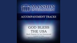 God Bless the USA (Medium KeyDb with Background Vocals)