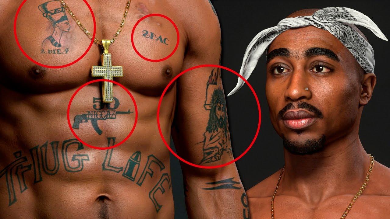 2PAC: sus tatuajes y significados ocultos!
