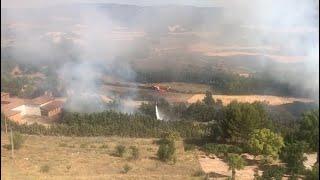 Declarado un incendio forestal en Brihuega (Guadalajara)