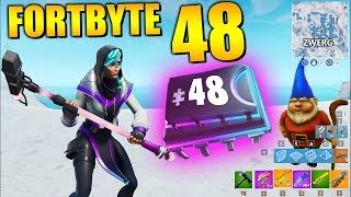 Fortnite Fortbyte 48 🎤 Dwarf Vox Pickaxe | All Fortbyte Places Season 9 Utopia Skin English