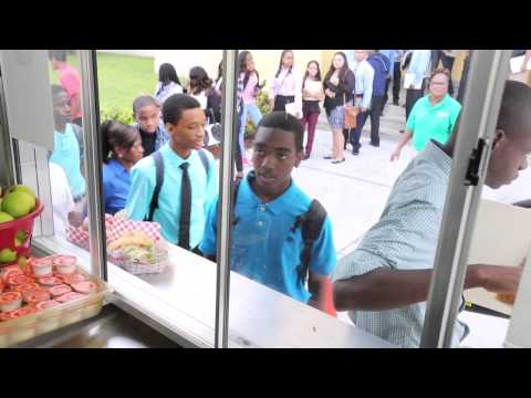 Miami-Dade County Public School's unveils new food truck